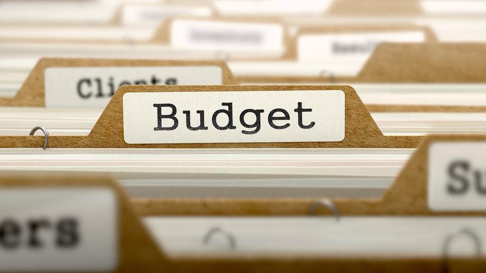 Budget Concept. Word on Folder Register of Card Index. Selective Focus.